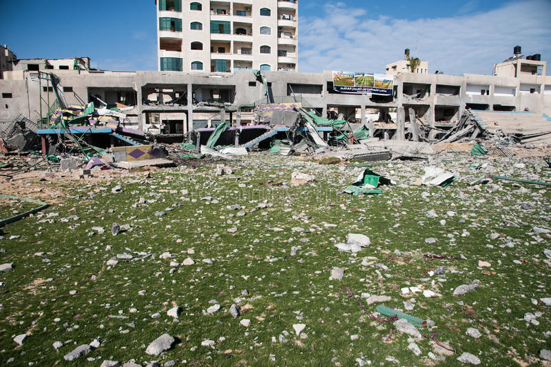 Gaza-Kriegsschaden stockbild