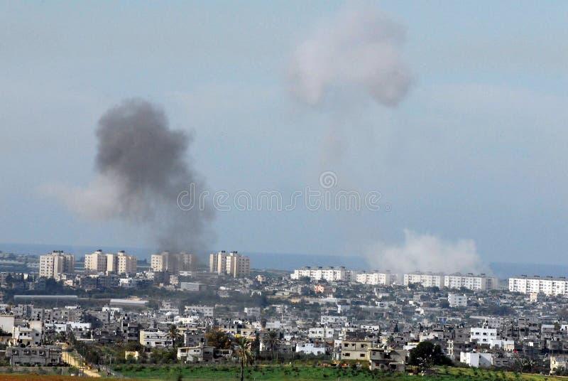 Gaza krig royaltyfri fotografi