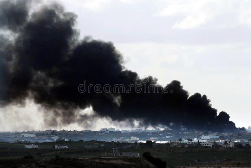 Gaza krig royaltyfria bilder