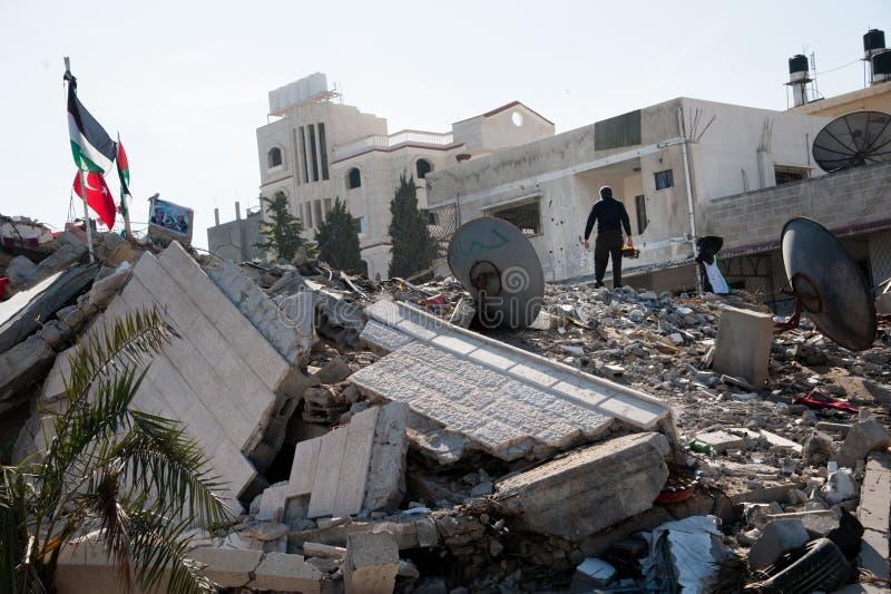 Gaza kriger skada royaltyfri bild