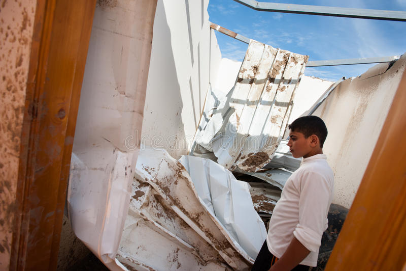 Gaza kriger skada royaltyfria bilder