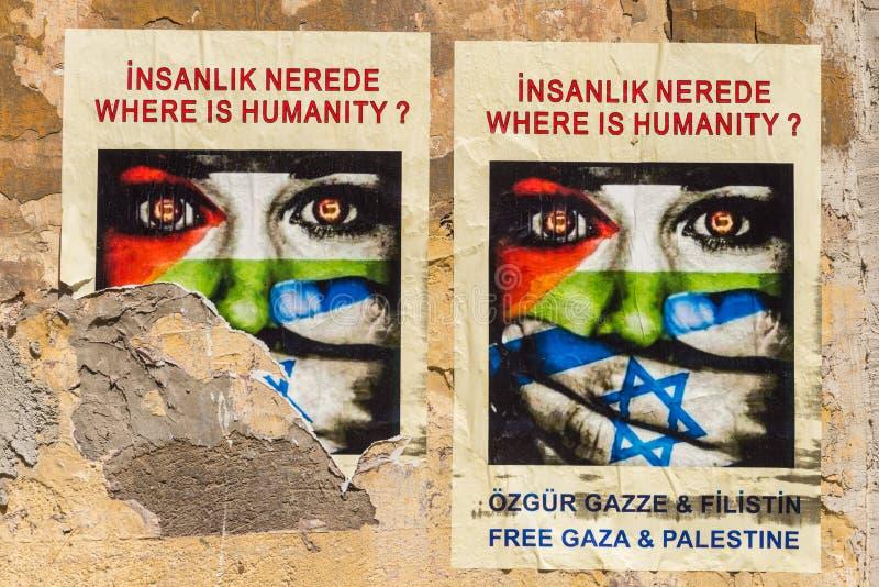 Gaza-Poster lizenzfreies stockbild