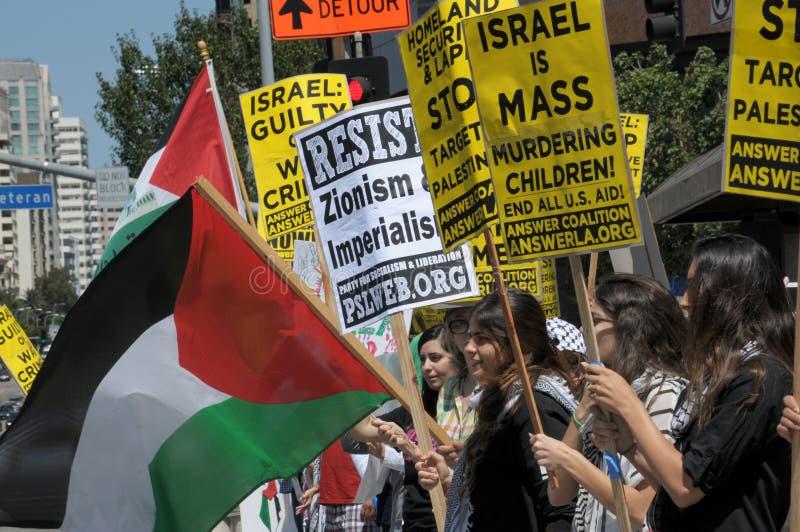 Gaza protest arkivfoto