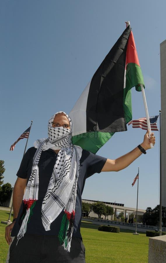 Gaza protest royaltyfri bild