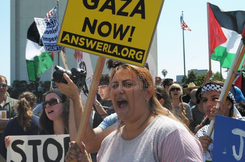 Gaza protest arkivfoton