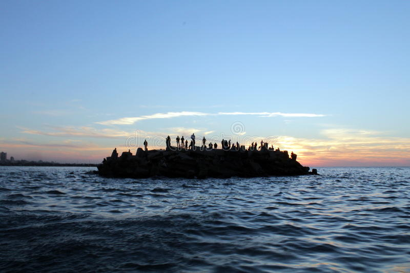 Gaza-Seehafen stockfoto
