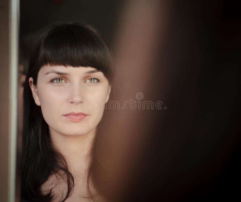 Download Gaze in the mirror stock photo. Image of reflection, eyes - 15340676