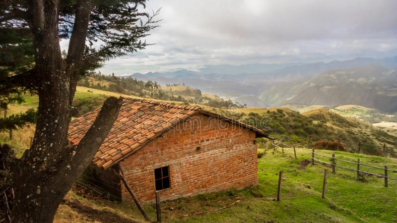 Gaze to the canyon of Pasto river stock images