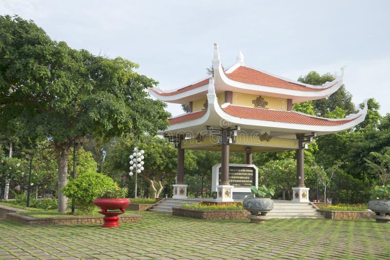 Gazebo-παγόδα στο αναμνηστικό συγκρότημα του Pantheon του Ho Chi Minh Vung Tau, Βιετνάμ στοκ εικόνες με δικαίωμα ελεύθερης χρήσης