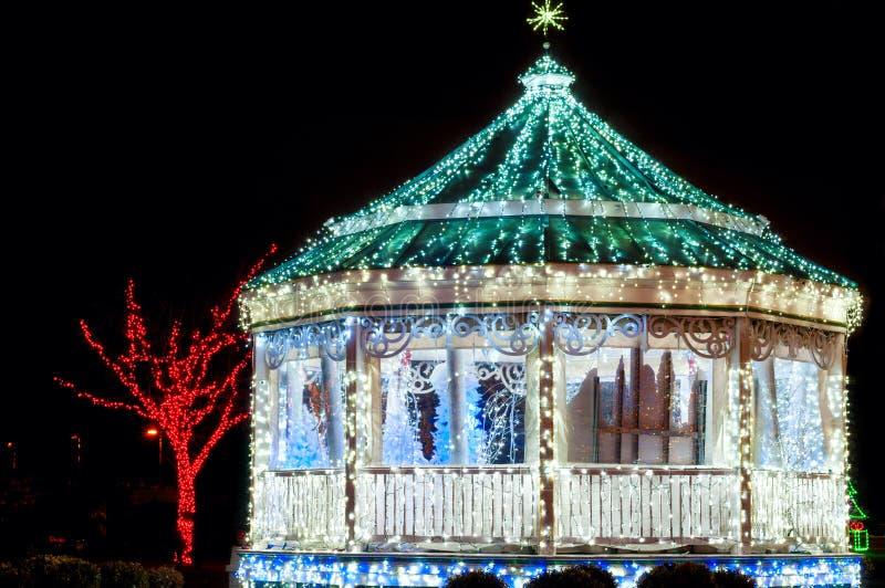 Gazebo Χριστουγέννων Enchanted στοκ φωτογραφίες