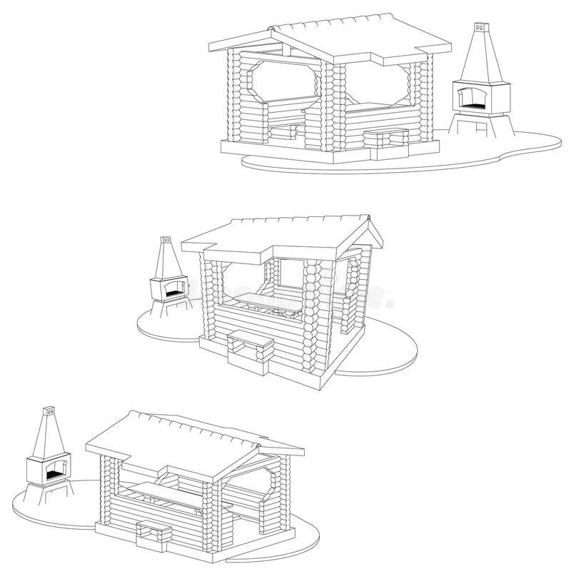 gazebo illustrazione vettoriale
