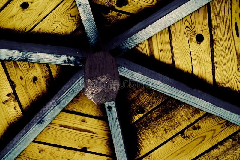 Gazebo binnenlands plafond royalty-vrije stock foto