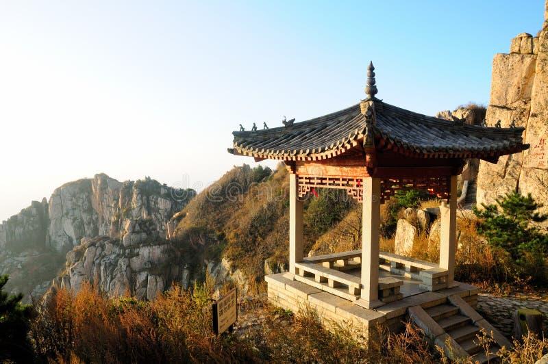 Gazebo cinese Cina di Taishan fotografia stock libera da diritti