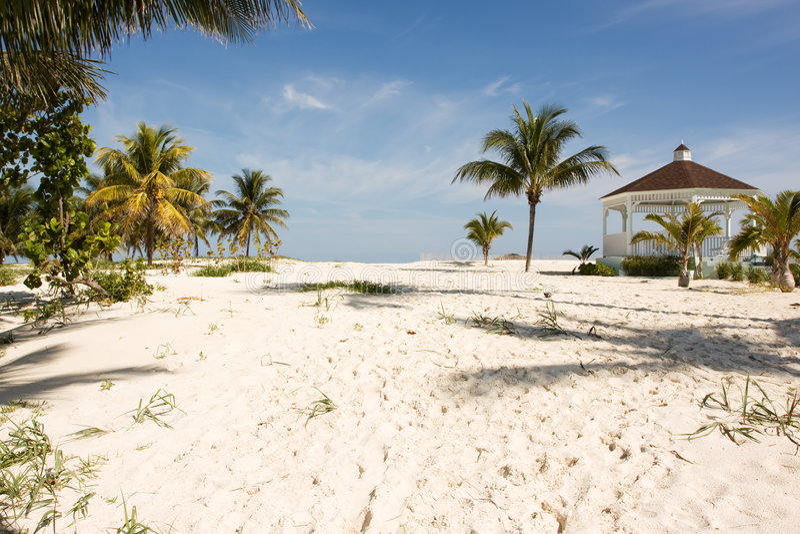 Gazebo de la playa fotos de archivo