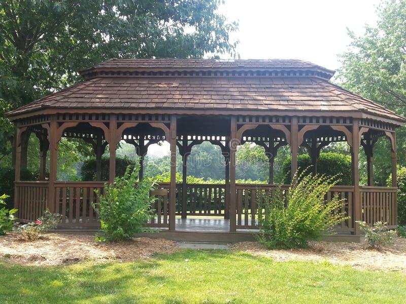 Gazebo del parque de Kirkwood imagen de archivo