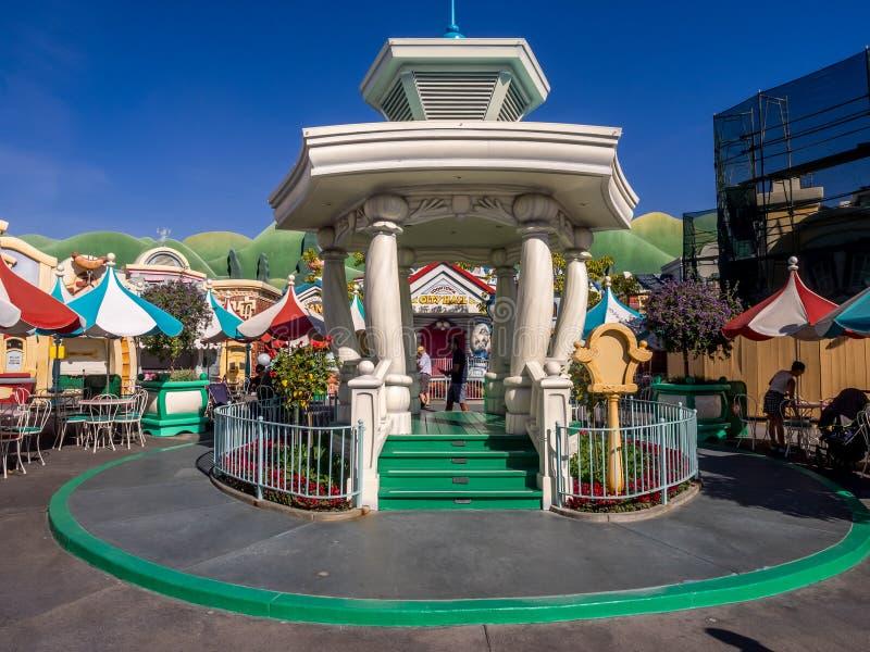 Gazebo en Toontown, Disneyland fotografía de archivo
