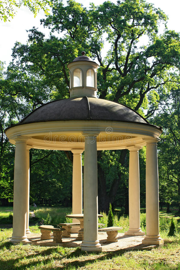Download Gazebo in the garden stock photo. Image of bench, park - 18777598