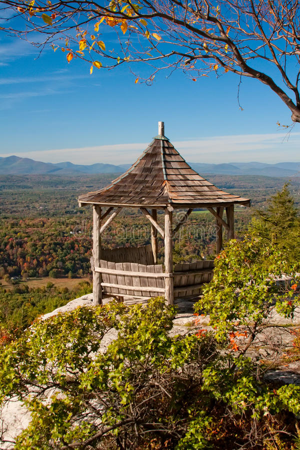 Gazebo in the Hudson Valley in New York State stock photography
