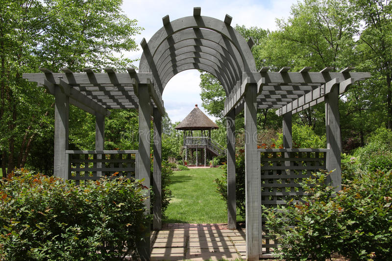 Gazebo Hunterdon County Arboretum royalty free stock photos