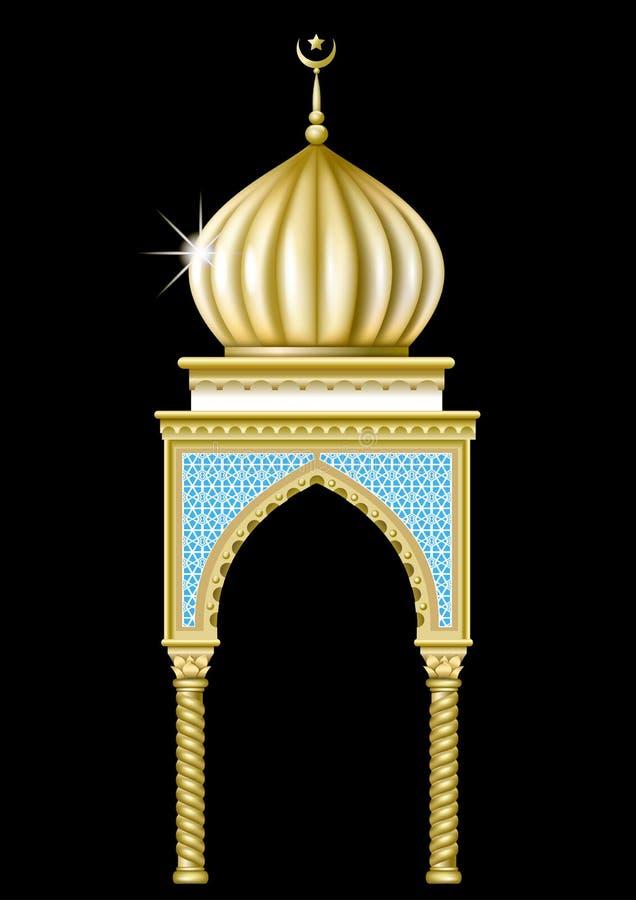 Gazebo i orientalisk stil vektor illustrationer