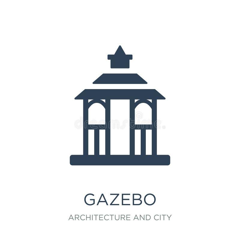 gazebo ikona w modnym projekta stylu gazebo ikona odizolowywająca na białym tle gazebo wektorowej ikony prosty i nowożytny płaski royalty ilustracja