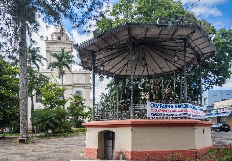 Gazebo kyrkliga Itatiba Sao Paulo royaltyfri bild