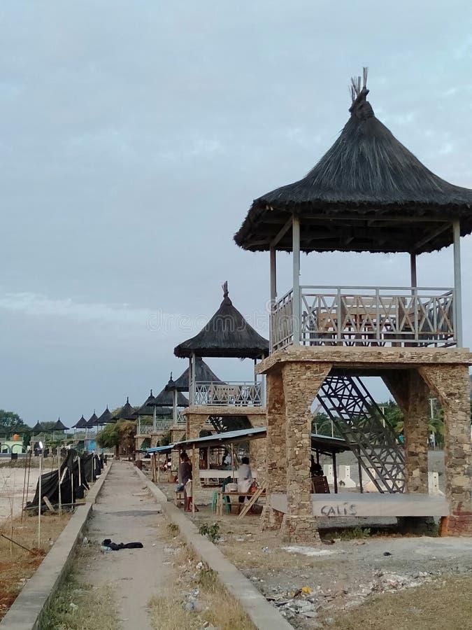 Gazebo na Praia zdjęcia stock
