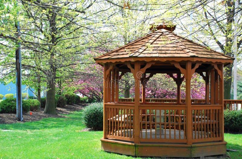 Gazebo in Park royalty free stock photo