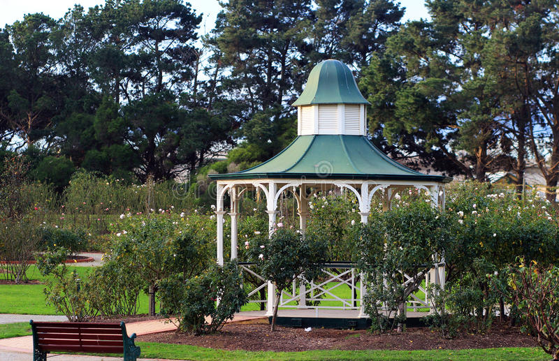 Gazebo in a park royalty free stock photo