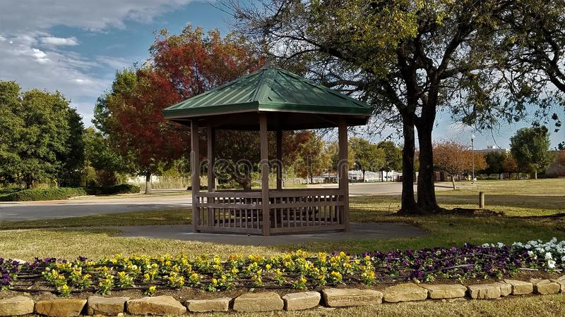The gazebo at the park royalty free stock images