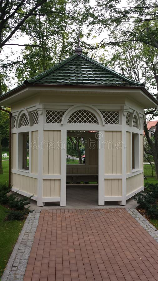 Gazebo in the park royalty free stock photography