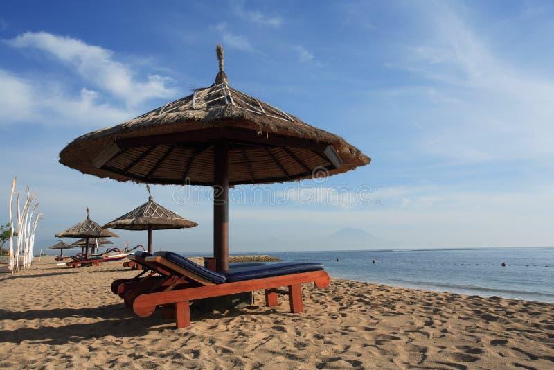 Gazebo przy Piękną plażą obrazy stock