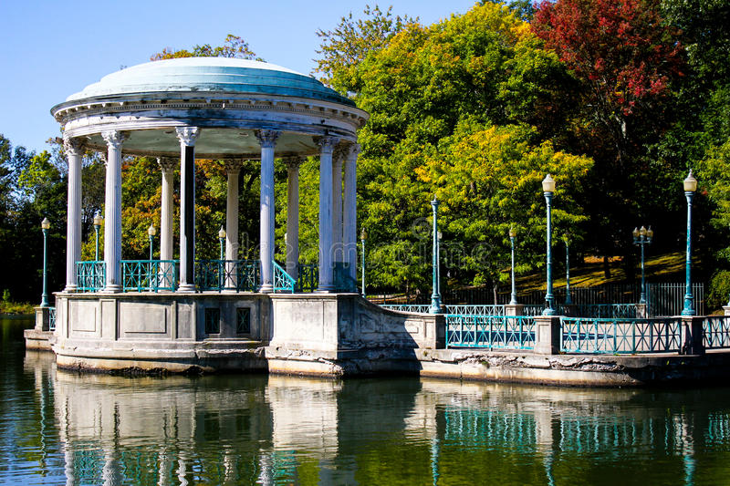 The Gazebo, Roger Williams Park. A vintage look at the gazebo at Roger Williams Park in Providence, RI royalty free stock images