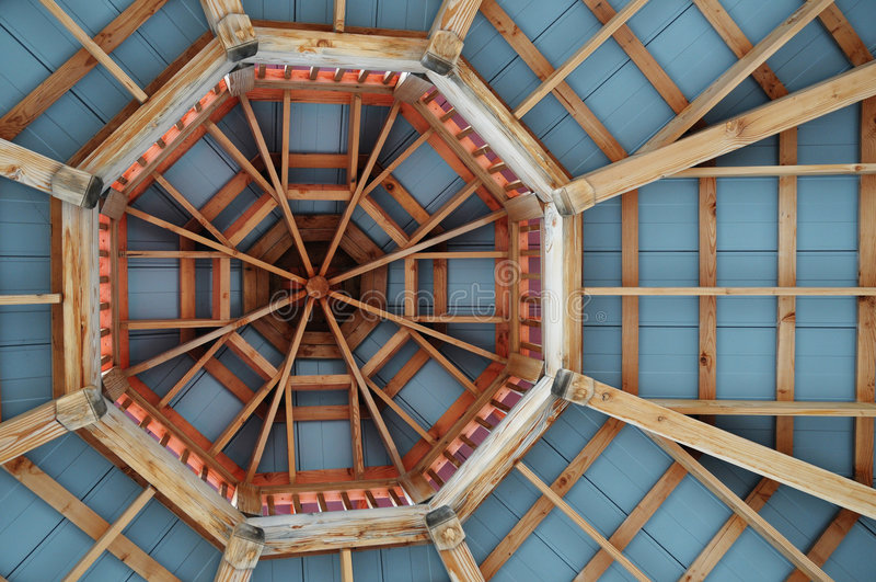 Gazebo Roof Pattern stock photos