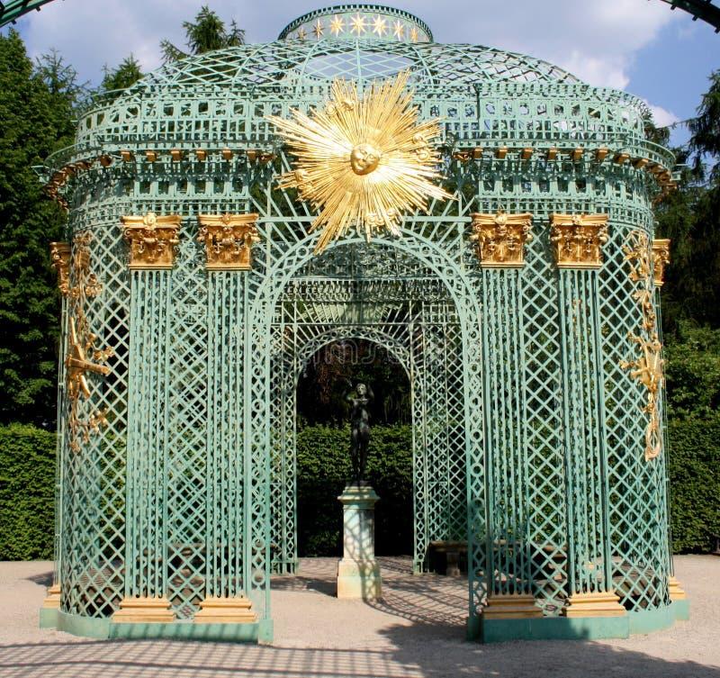 Gazebo Sanssouci pałac zdjęcie stock