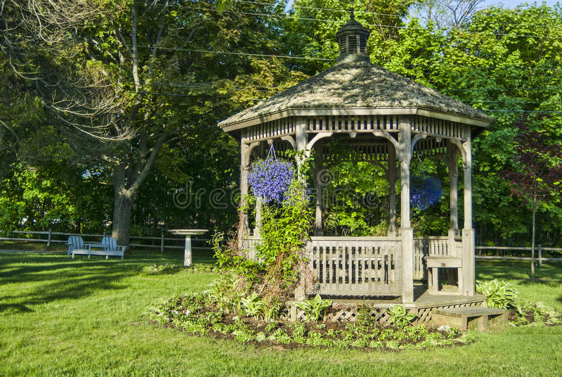 Download Gazebo with Spring Flowers stock image. Image of harbor - 26542323