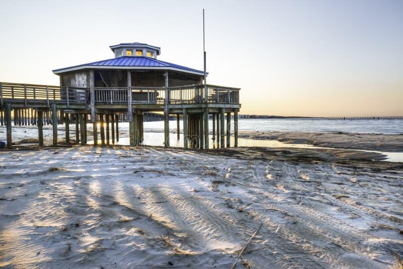 Gazebo sulla baia di Chesapeake fotografia stock