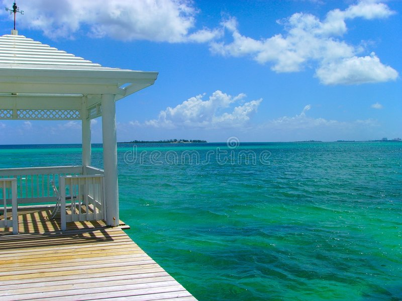 Gazebo tropical Nassau de la isla fotografía de archivo libre de regalías