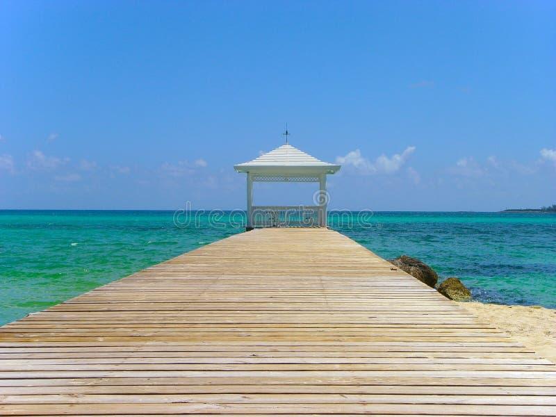 Gazebo tropical Nassau de la isla foto de archivo libre de regalías