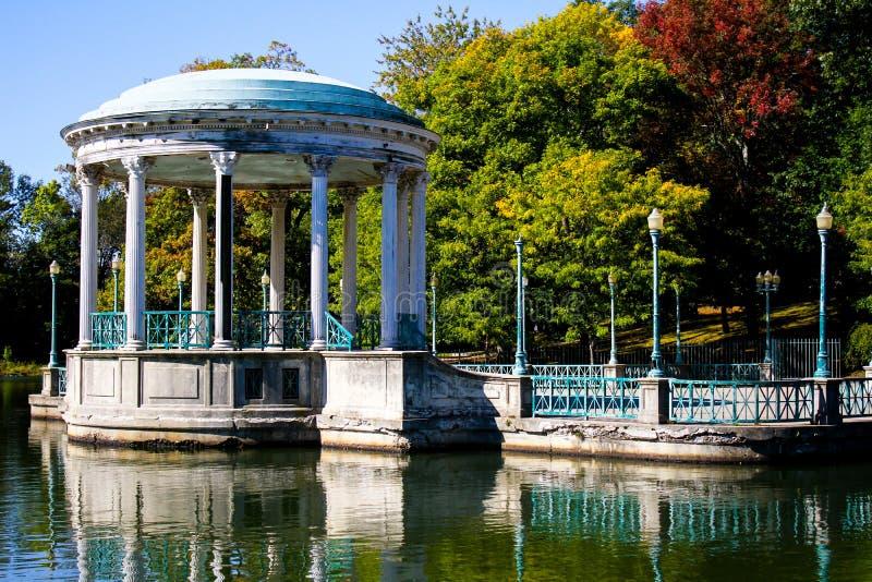 Gazeboen, Roger Williams Park royaltyfria bilder