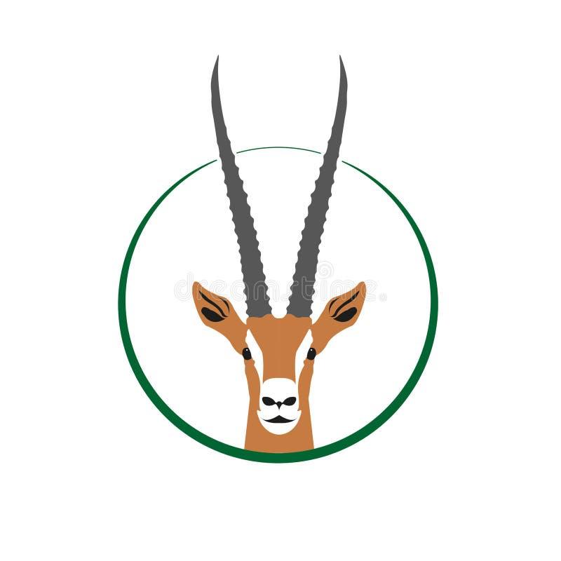 Gazela logo ilustracja wektor