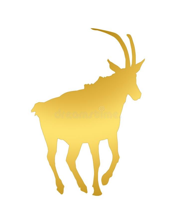 The gazelle enjoys his natural habitat royalty free stock photography