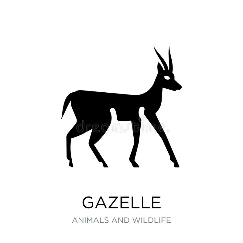 Free Gazelle Icon In Trendy Design Style. Gazelle Icon Isolated On White Background. Gazelle Vector Icon Simple And Modern Flat Symbol Stock Photo - 135750010