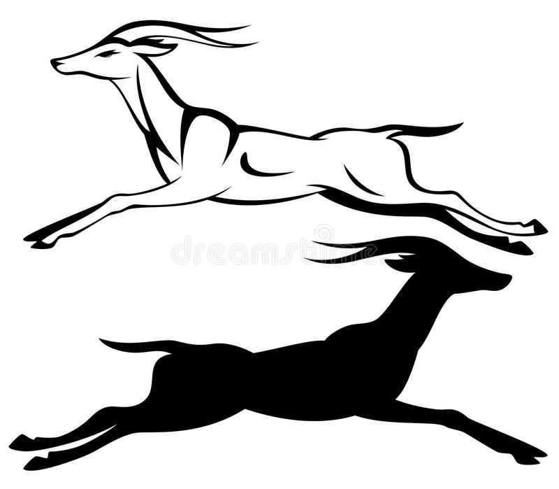 Gazelle Running Vector Stock Image