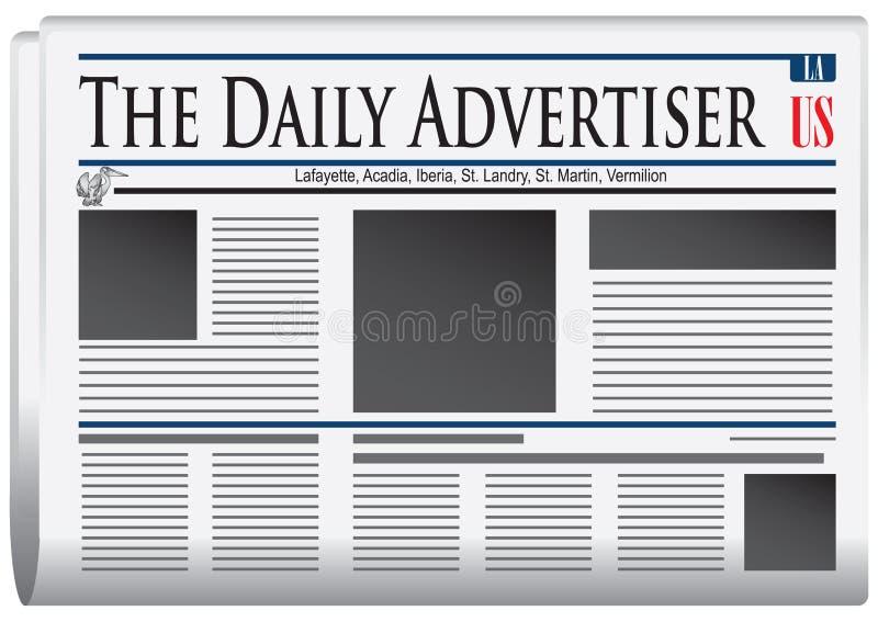 Gazeta Dzienny Advertiser royalty ilustracja