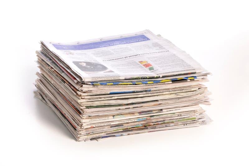 gazeta stos zdjęcie stock