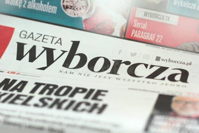Gazeta Wyborcza imagens de stock royalty free