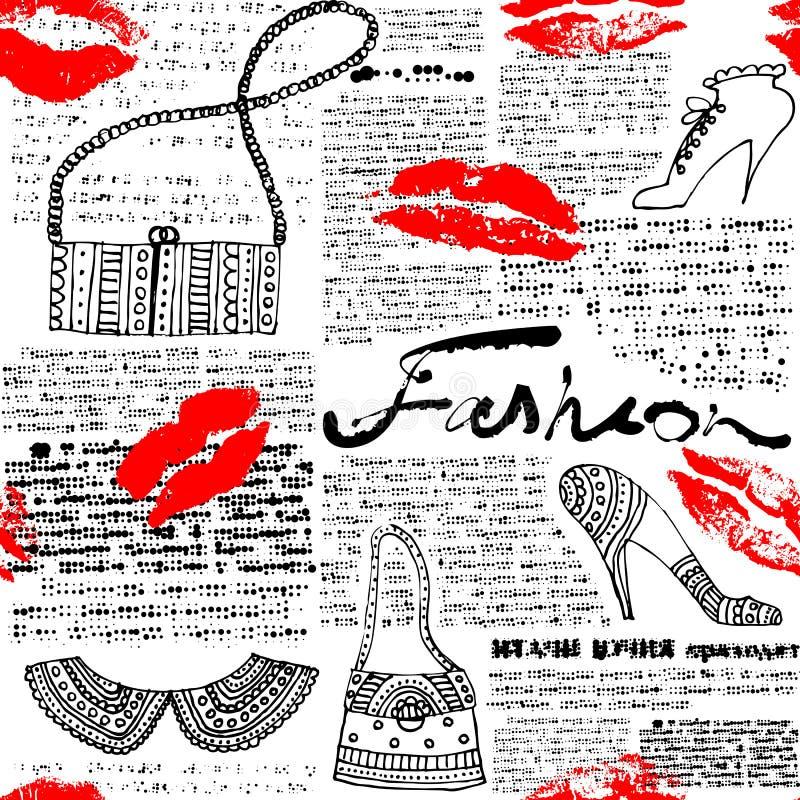 Gazeta wzoru moda ilustracji