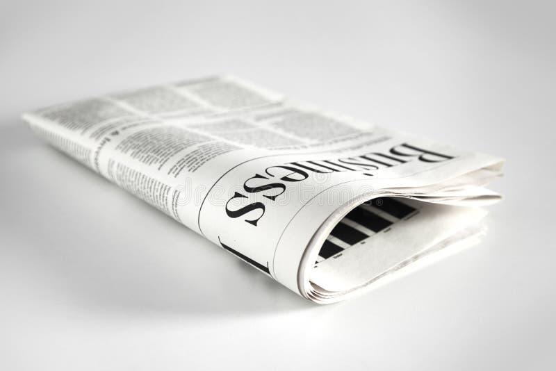 Gazeta z białym tłem fotografia stock
