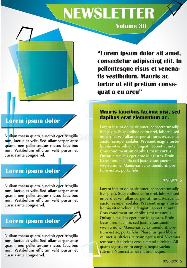 Gazetki lub strona internetowa szablonu projekt ilustracja wektor